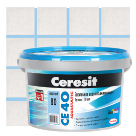 Затирка цементная Ceresit CE 40 2 кг цвет небесный
