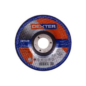 Круг зачистной по металлу Dexter, тип 27, 115x4x22.2 мм