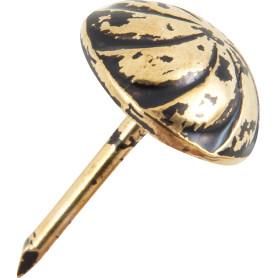 Гвоздь мебельный 1560 бронза, 30 шт.