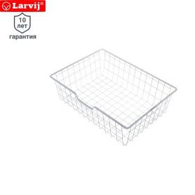 Корзина сетчатая Larvij 588х424х180 мм цвет белый