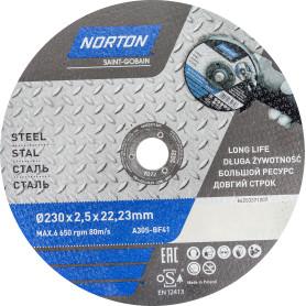 Круг отрезной по металлу Norton, тип 41, 230x2.5x22.2 мм