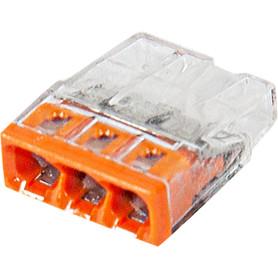 Клемма Wago 3 разъема под провода с пастой, 14х5.8х16.7 мм, поликарбонат, 6 шт.