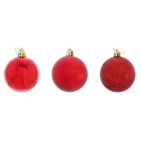 Набор ёлочных шаров 3 шт 6 см, цвет красный