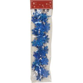 Бусы Снежинки сине-белые 270 см