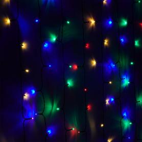 Электрогирлянда наружная «Занавес» 2 м 200 LED мультисвет