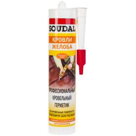 Герметик профессиональный кровельный Soudal 280 мл бесцветный