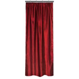 Штора на ленте 140х260 см тафта цвет бордовый