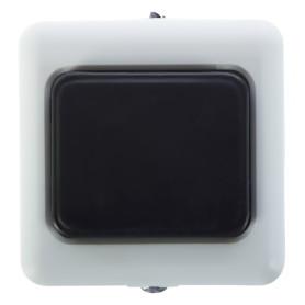 Кнопка для проводного звонка, 220 В, цвет белый/чёрный