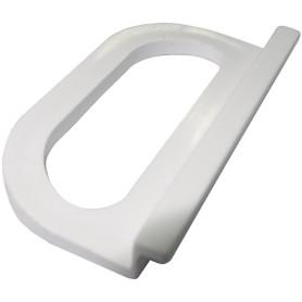 Ручка москитной сетки 51 мм пластик цвет белый, 2 шт.