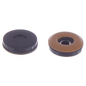 Набойки Standers PTFE 25 мм, круглые, пластик, цвет коричневый, 4 шт.