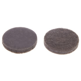 Накладки фетровые Standers 20 мм, круглые, войлок, цвет коричневый, 16 шт.