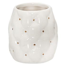 Стакан для зубных щёток настольный «Sovy» керамика цвет белый