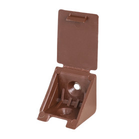 Уголок монтажный 25 мм, пластик, цвет коричневый, 8 шт.