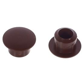 Заглушка на отверстие 8 мм полиэтилен цвет коричневый, 40 шт.
