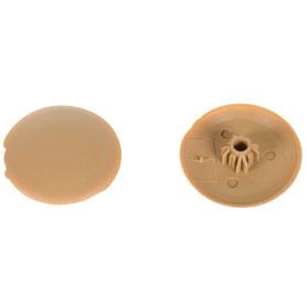 Заглушка на шуруп-стяжку Hex 5 мм полиэтилен цвет бук, 40 шт.