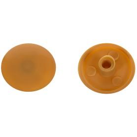 Заглушка на шуруп-стяжку Hex 7 мм полиэтилен цвет бук, 50 шт.