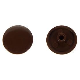 Заглушка на шуруп-стяжку Hex 7 мм полиэтилен цвет коричневый, 50 шт.