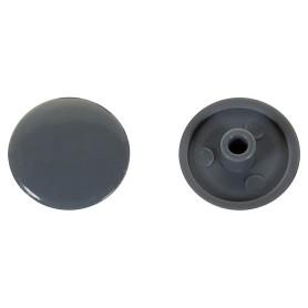 Заглушка на шуруп-стяжку Hex 7 мм полиэтилен цвет серый, 50 шт.