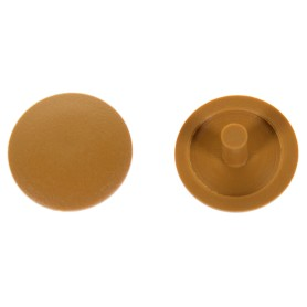 Заглушка на шуруп-стяжку PZ 5 мм полиэтилен цвет бук, 40 шт.