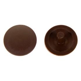 Заглушка на шуруп-стяжку PZ 5 мм полиэтилен цвет коричневый, 40 шт.