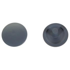 Заглушка на шуруп-стяжку PZ 5 мм полиэтилен цвет серый, 40 шт.