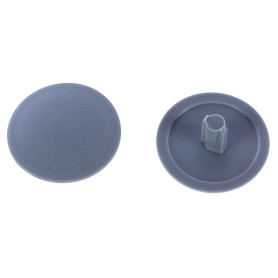 Заглушка на шуруп-стяжку PZ 7 мм полиэтилен цвет серый, 50 шт.