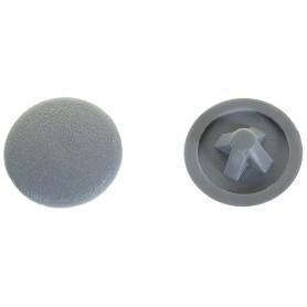 Заглушка на шуруп PZ 3 15 мм полиэтилен цвет серый, 50 шт.
