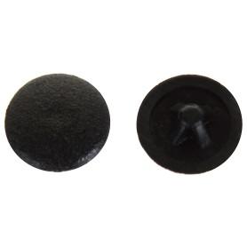 Заглушка на шуруп PZ 3 15 мм полиэтилен цвет чёрный, 50 шт.