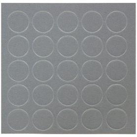 Заглушка самоклеящаяся 14 мм меламин цвет алюминий, 25 шт.