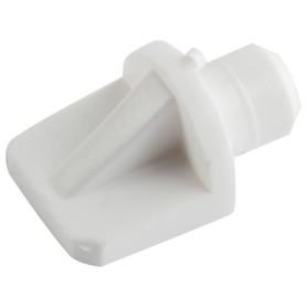 Полкодержатель мебельный лопатка 7 мм, пластмасса, цвет белый 16 шт.