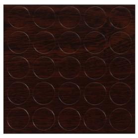 Заглушка самоклеящаяся 14 мм меламин цвет махагон, 25 шт.