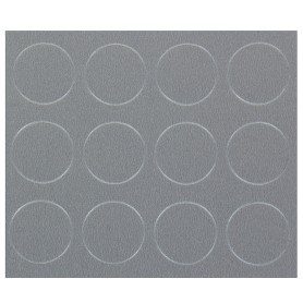 Заглушка самоклеящаяся 18 мм меламин цвет алюминий, 21 шт.