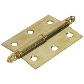 Петля мебельная карточная съёмная правая Amig 541, 50х35 мм, сталь, цвет золото