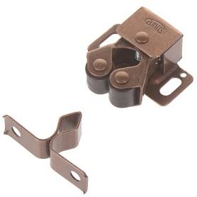 Защёлка роликовая Amig Модель 11, 32х26 мм, сталь, цвет бронза