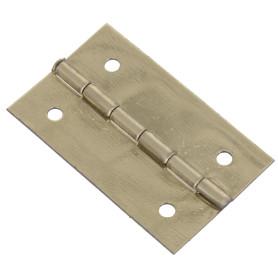 Петля накладная для шкатулки, 18х30х0.5 мм, металл, цвет латунь, 4 шт.