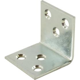 Уголок мебельный 30х30х35 мм, сталь, цвет цинк, 4 шт.