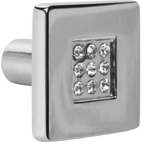 Ручка-кнопка Kerron CRL03 металл цвет глянцевый хром