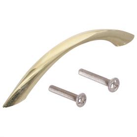 Ручка-скоба Kerron S-2200 96 мм металл цвет глянцевое золото