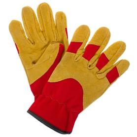 Перчатки садовые hq-15-M, кожа/спандекс