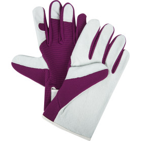 Перчатки садовые с липучкой hq-18-M, кожа/спандекс