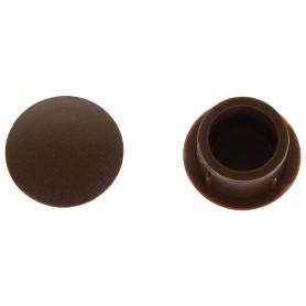 Заглушка для дверных коробок 14 мм полиэтилен цвет коричневый, 20 шт.