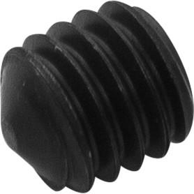 Винты мебельный установочные 6х6 мм, металл, цвет хром, 4 шт.