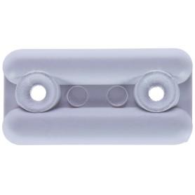 Подпятник прямоугольный 18х35 см, пластик, цвет белый, 8 шт.