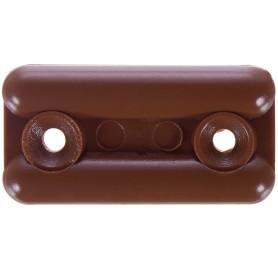 Подпятник прямоугольнык 18х35 см, пластик, цвет светло-коричневый, 8 шт.