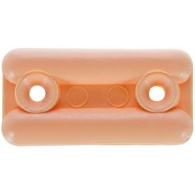 Подпятник прямоугольный 18х35 см, пластик, цвет сосна, 8 шт.