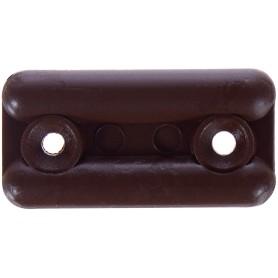 Подпятник прямоугольный 18х35 см, пластик, цвет темно-коричневый, 8 шт.