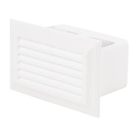 Решетка вентеляционная Вентс 571, 55х110 мм, цвет белый