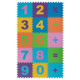 Пол мягкий «Математика» полипропилен 20х20 см, в упаковке 15 шт.