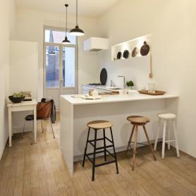 Линолеум «Стронг Плюс Дуб Ванильный» 42 класс 3 м