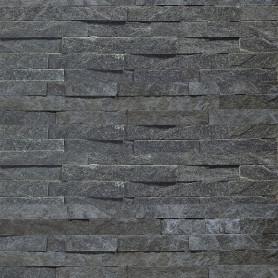 Камень натуральный Кварцит, цвет чёрный, 0.63 м2